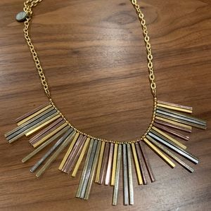 Gemma Redux Mixed Metal Long Bib Necklace